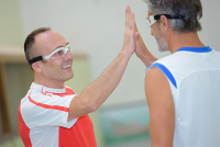 sports protective eyewear | photo of two men wearing goggles