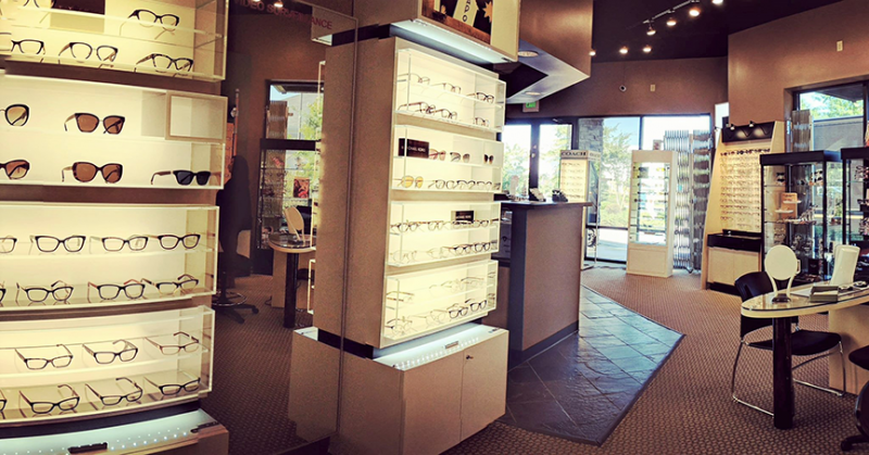 interior of Windward Eye Center showing their frame selection