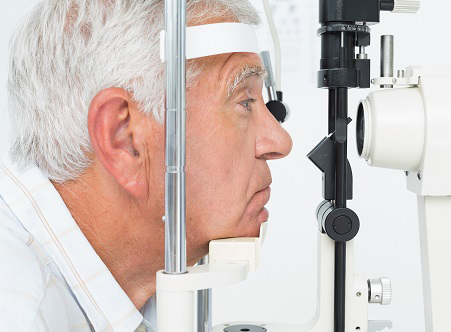 Glaucoma | photo of senior man getting his cornea checked