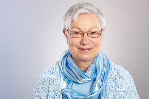 senior eye care | photo of senior woman wearing glasses